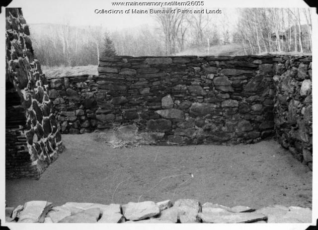 Katahdin Ironworks Furnace After Restoration, 1966