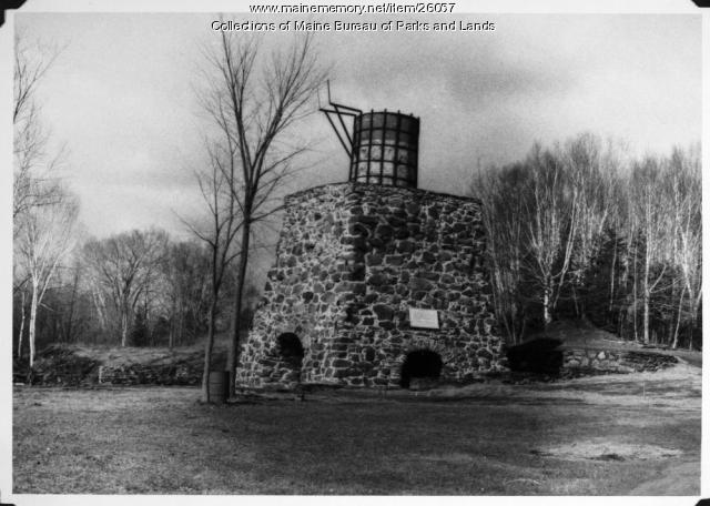 Katahdin Ironworks Furnace After Restoration, 1966