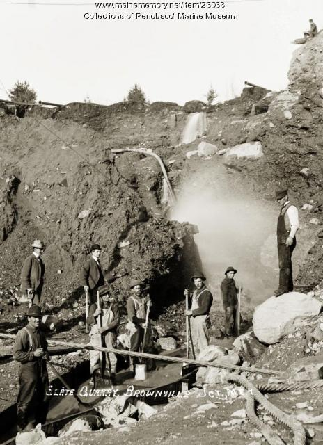 Slate quarry, Brownville Junction, ca. 1910