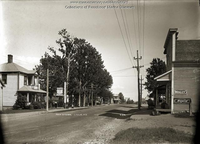Main Street, Lille, ca. 1920