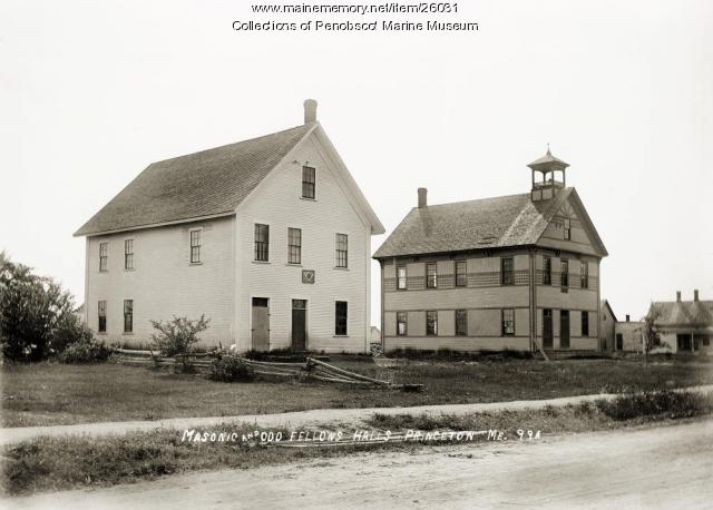Masonic and Odd Fellows Hall, Princeton, ca. 1915