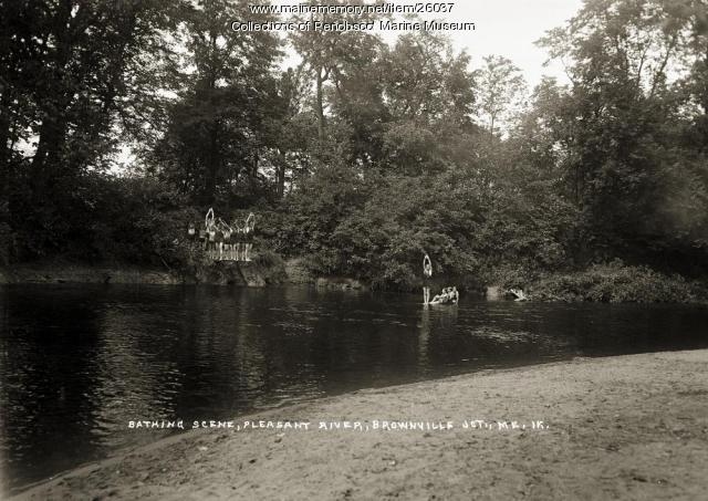 Pleasant River, Brownville Junction, ca. 1920
