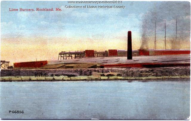 Lime burners, Rockland, ca. 1915