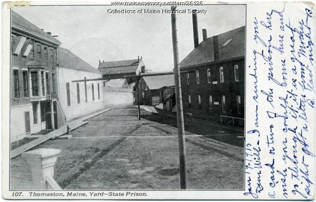 Maine State Prison yard, Thomaston, ca. 1915