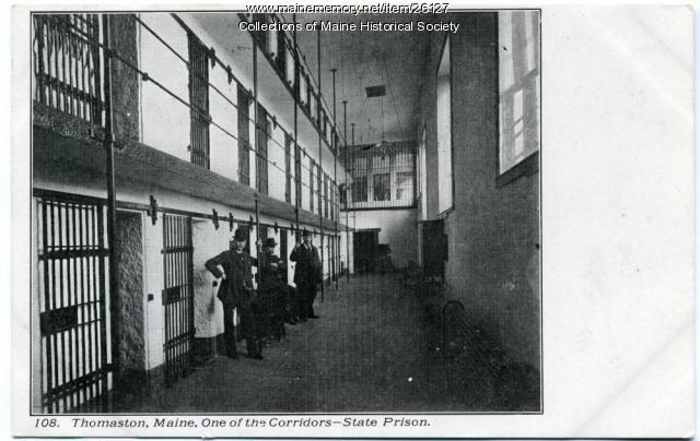 Corridor, Maine State Prison, Thomaston, ca. 1915