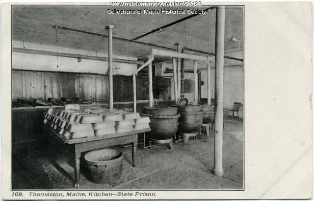 Kitchen, Maine State Prison, Thomaston, ca. 1915