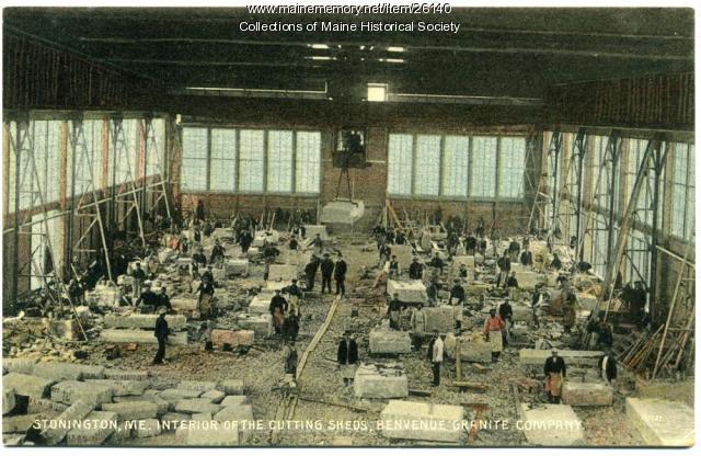 Cutting sheds, Benvenue Granite Co., Stonington, ca. 1912