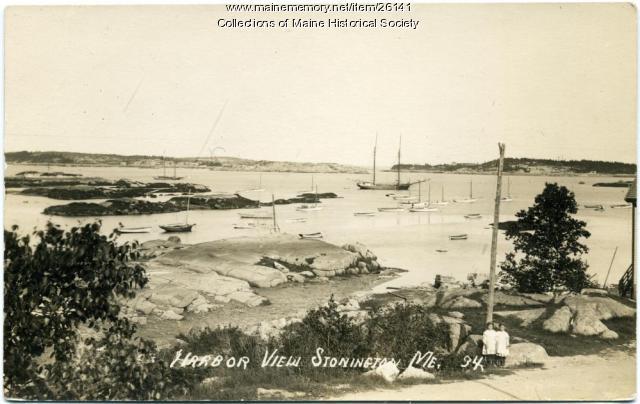 Harbor view, Stonington, ca. 1920