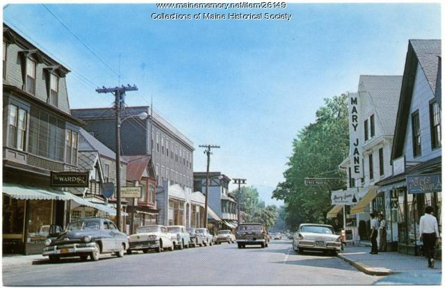 Business district, Bar Harbor, ca. 1960
