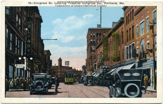 Congress Street, Portland, looking west, ca. 1925