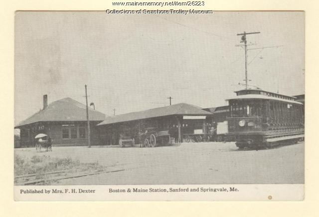 Boston and Maine Station, Sanford and Springvale, ca. 1911