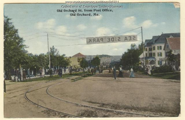Old Orchard St. from Post office, Old Orchard, ca. 1919