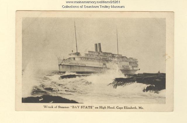 Wreck of the Steamer Bay State, Cape Elizabeth, ca. 1916