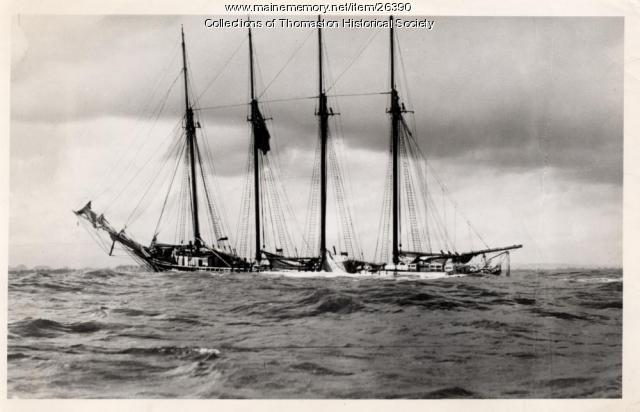 "Schooner ""Ella M. Willey"", ca. 1900"