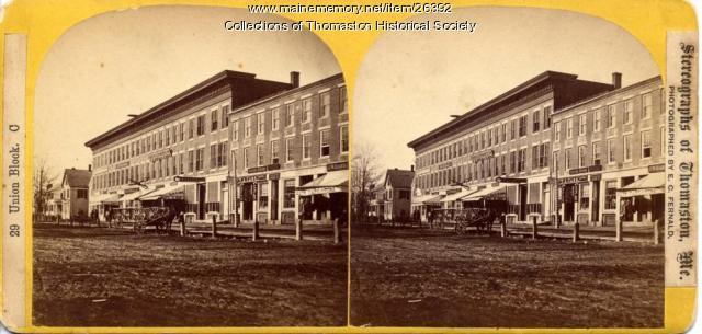 Union Block, North Main Street, Thomaston, ca. 1870