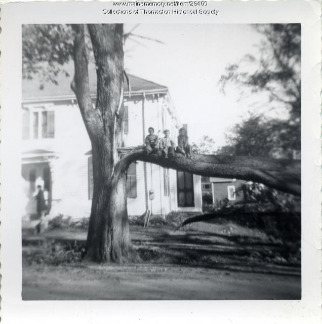 Hurricane Damage, Thomaston, 1950s