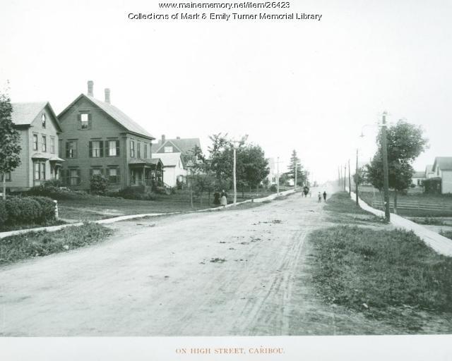 High Street, Caribou, 1895