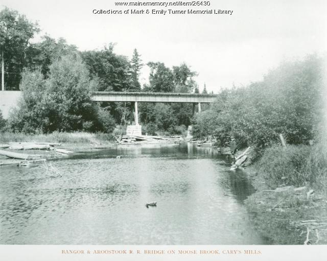 Bangor and Aroostook Railroad Bridge, Houlton, 1895