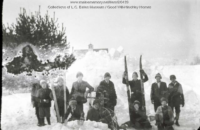 Winter activities at Good Will Farm, ca. 1910