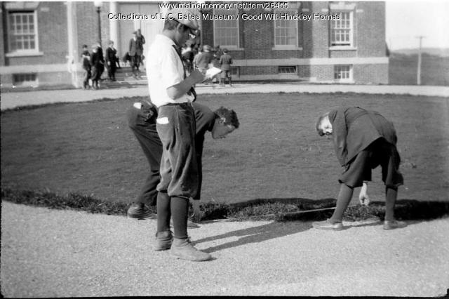 Science class, Prescott School, Good Will Home, Fairfield, ca. 1920
