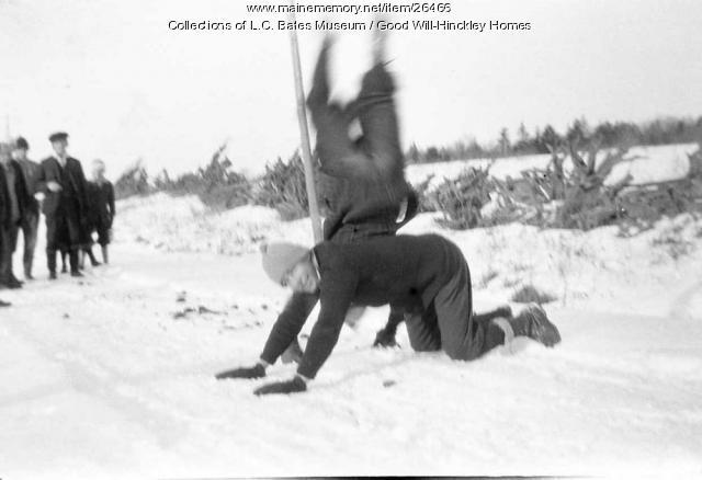 Good Will boys in the snow, Fairfield, ca. 1915