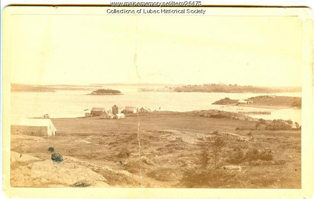 View from Treat's Island, Lubec, ca. 1900