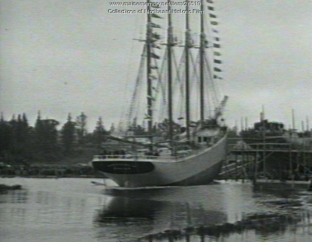 Launch of Doris Hamlin, Harrington, 1919