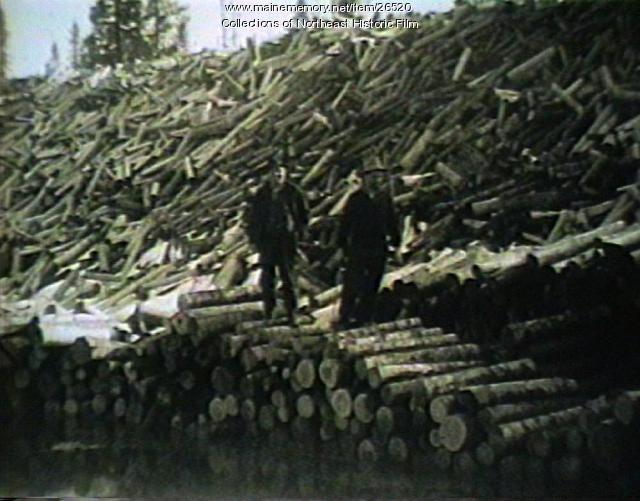 Winter logging, ca. 1930s
