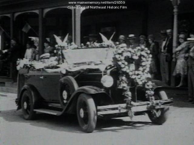 Wedding parade film, Caribou, 1930