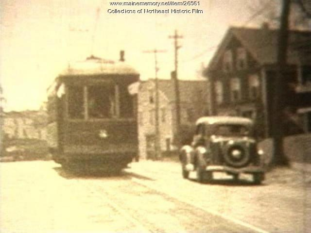 Trolley excursion film, Lewiston-Auburn, ca. 1935