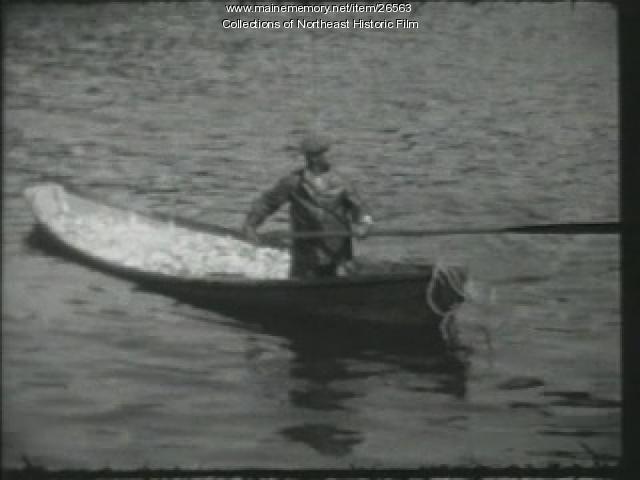 Loading whale boat film, Mt. Desert, ca. 1940