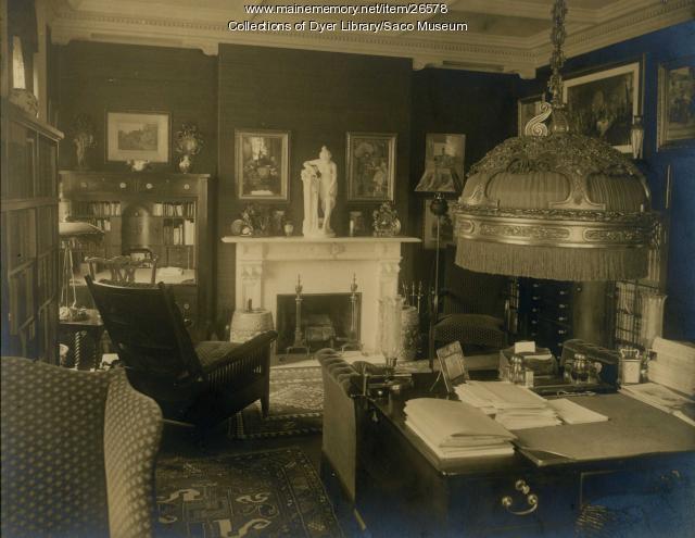 Deering Mansion, Den, Saco, 1937