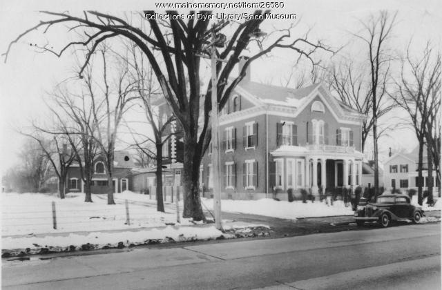 Deering Mansion Exterior, Saco, 1937