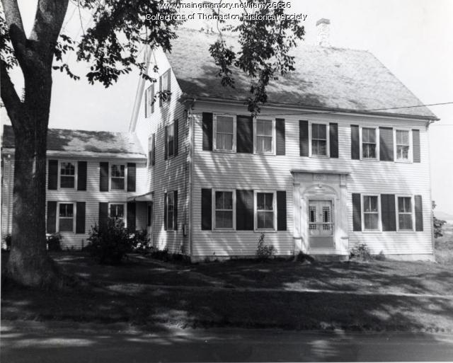 The Hallowell House, Thomaston, ca. 1960