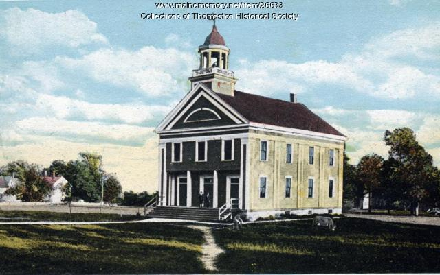Thomaston High School, Thomaston, ca. 1871