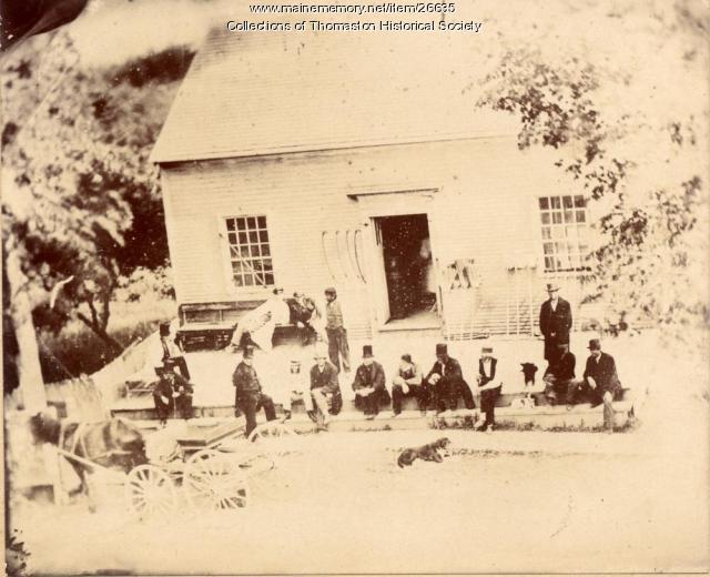 At Levensaler Store, Thomaston, ca. 1870