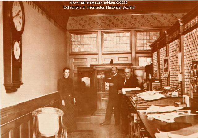 Interior Georges National Bank, Thomaston, ca. 1890