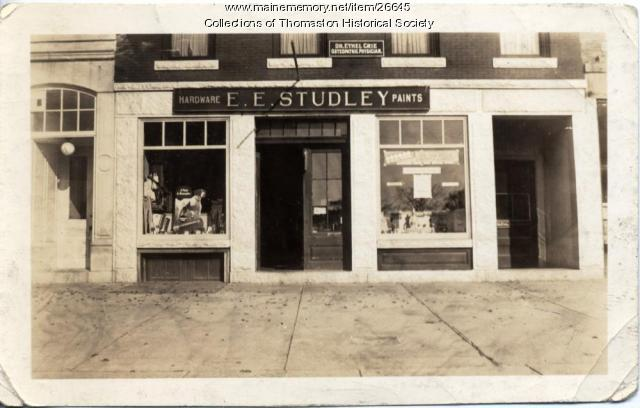 Studley Hardward Storefront, Thomaston, 1934