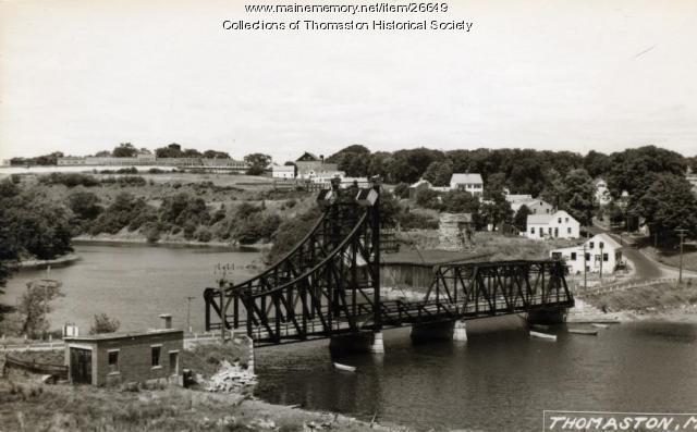 Lower Toll Bridge, Thomaston, ca. 1950