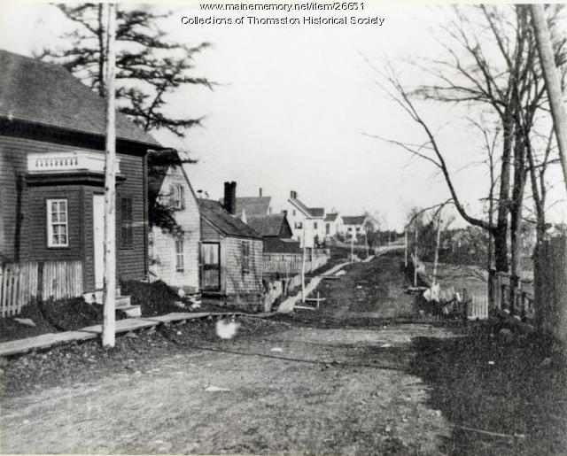 Gleason Street, Thomaston, looking east, ca. 1870