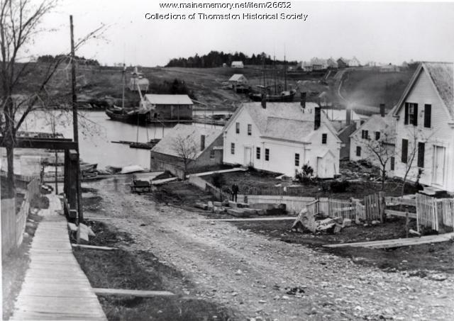 Green Street, Thomaston looking south, ca. 1871