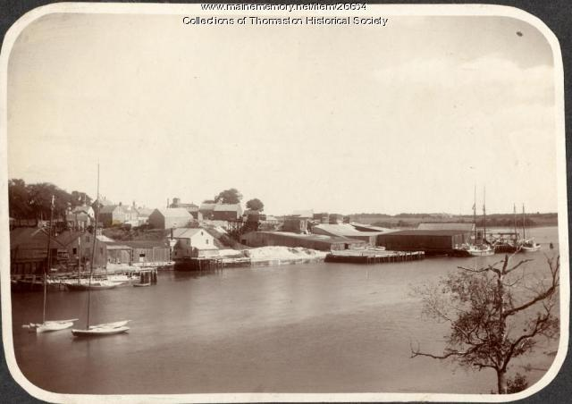 Waterfront, Thomaston, ca. 1900