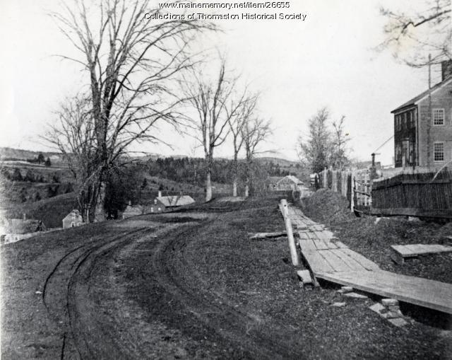 High Street, Thomaston looking north 1870