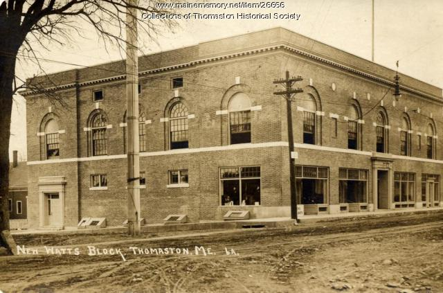 The Rebuilt Watts Block, Thomaston, 1915