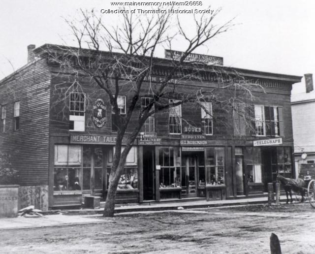 Telegraph Block, Thomaston, ca. 1870