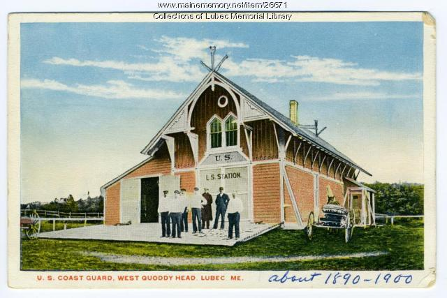 Carrying Place Cove, Life Saving Station, Lubec, ca. 1890