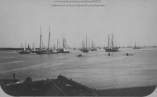 Fishing Fleet, Biddeford Pool, ca. 1890