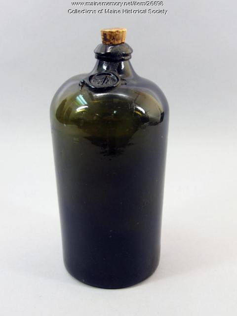 Bottle with King George's broad arrow mark, ca. 1812
