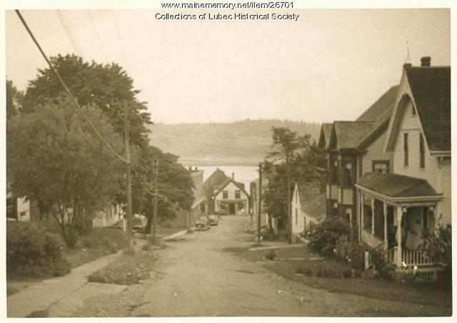 School Street, Lubec, ca. 1940
