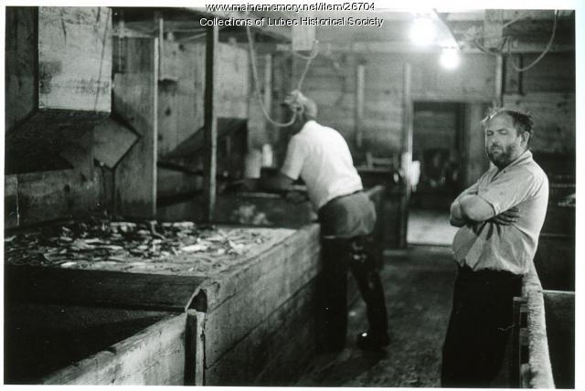 McCurdy Smokehouse, Lubec, ca. 1975